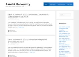 Ranchiuniversity.org.in thumbnail