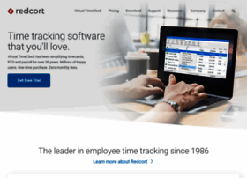 redcort.com at WI. Redcort Software | Time Tracking, Timesheets ...