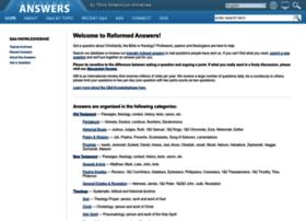 Reformedanswers.org thumbnail