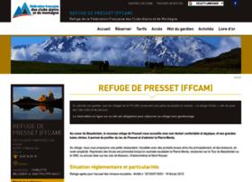 Refugedepresset.ffcam.fr thumbnail