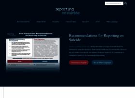 Reportingonsuicide.org thumbnail