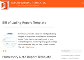 Reportwritingtemplates.com thumbnail