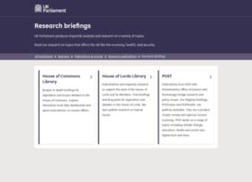Researchbriefings.parliament.uk thumbnail
