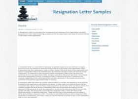 Resignationletters.sampleresumedirectory.com thumbnail