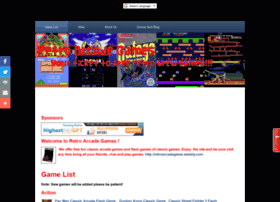 Retroarcadegame.weebly.com thumbnail