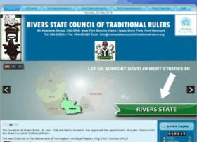 Riversstatecounciloftraditionalrulers.org thumbnail