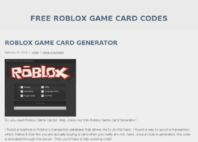 Robloxcardsfree.wordpress.com thumbnail