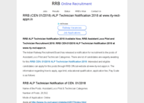 Rrbonlinerecruitment.in thumbnail
