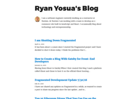 Ryanyosua.me thumbnail