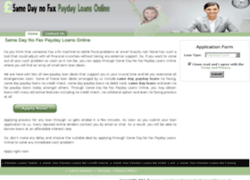 Samedaynofaxpaydayloansonline.co.uk thumbnail