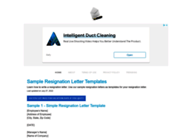 Sample-resignation-letters.com thumbnail