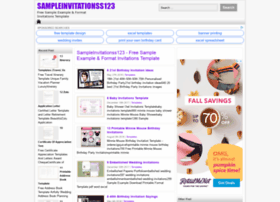 Sampleinvitationss123.com thumbnail