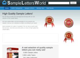 Samplelettersworld.com thumbnail