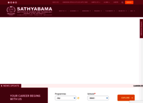 Sathyabama.ac.in thumbnail