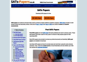Sats-papers.co.uk thumbnail