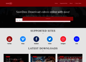 Savedeo Site At Wi Savedeo The Easiest Way To Download Video Online From Youtube Tumblr