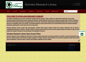 Scholarsresearchlibrary.com thumbnail