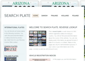 Searchtheplates.com thumbnail