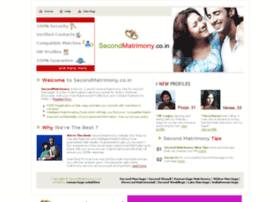 Secondmatrimony.co.in thumbnail