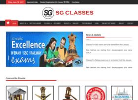 Sgclassesindia.com thumbnail