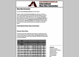 Shoesizeconversion.net thumbnail