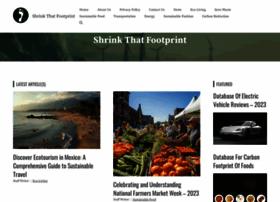 Shrinkthatfootprint.com thumbnail