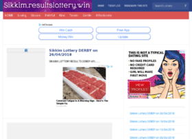 Sikkim.resultslottery.win thumbnail