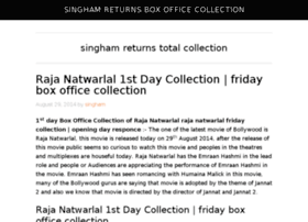 Singhamreturnsboxofficecollections.in thumbnail