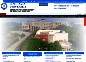 Singhaniauniversity.co.in thumbnail