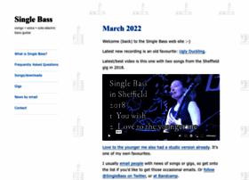Single-bass.co.uk thumbnail