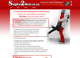 www free dating site co za Speed dating south africa - join the leader in footing services and find a date today join and search men looking for a woman - women looking for a woman find a man in my area free to join to find a man and meet a man online who is single and looking for you.