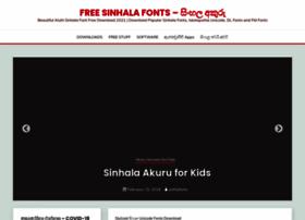 Sinhlafonts.com thumbnail