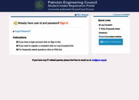 Sis.pec.org.pk thumbnail