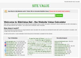 Sitevalue.net thumbnail