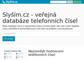 Slysim.cz thumbnail