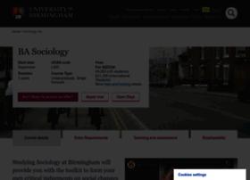 Sociology.bham.ac.uk thumbnail
