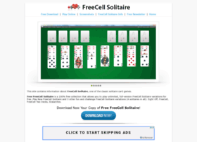 solitaire-freecell com at WI  FreeCell Solitaire | Free