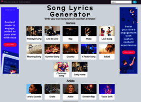 Song-lyrics-generator.org.uk thumbnail