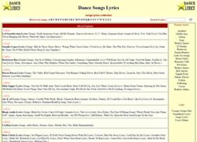 Songs.dance-lyrics.com thumbnail