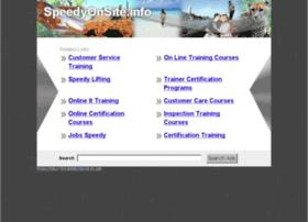 Speedyonsite.info thumbnail