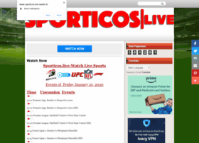 Sporticos.live thumbnail