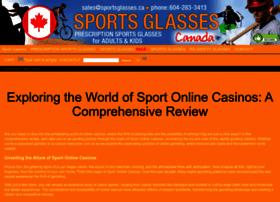 Sportsglasses.ca thumbnail