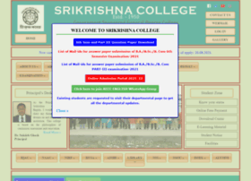 Srikrishnacollegebagula.ac.in thumbnail