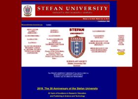 Stefan-university.edu thumbnail