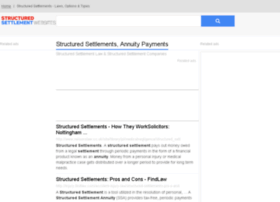 Structuredsettlement.org.uk thumbnail