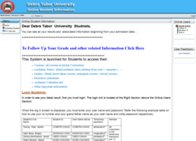 Studentinfo.dtu.edu.et thumbnail