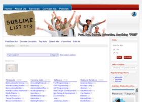 Sublimelist.org thumbnail