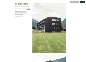 Subtilitas.site thumbnail