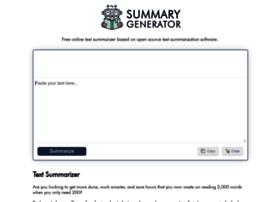 Summarygenerator.com thumbnail