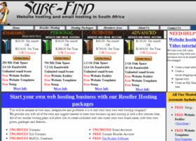 Sure-find-webhosting.co.za thumbnail